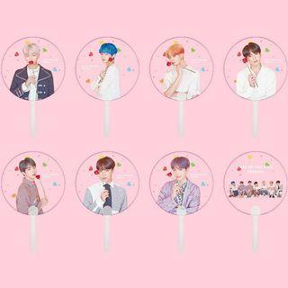 BTS TRANSPARENT HAND FAN