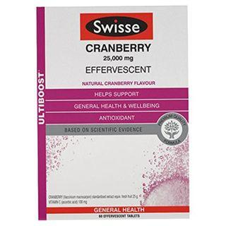 Swisse Ultiboost Cranberry Effervescent 60 tabs