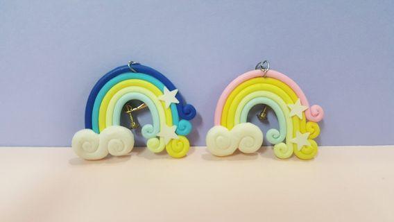 🚚 彩虹耳環(夾式)