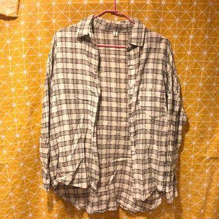 🚚 復古格紋麻襯衫