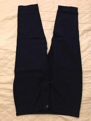 GU條紋休閒褲