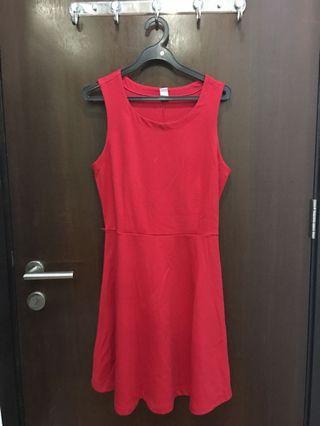 🚚 Red Skater Dress