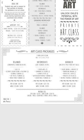 Home tuition - Art classes