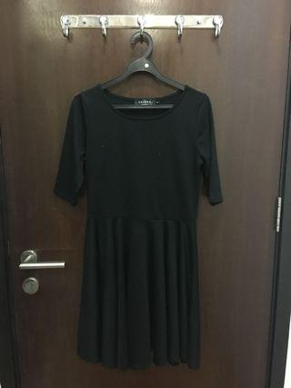 🚚 Black Babydoll Dress