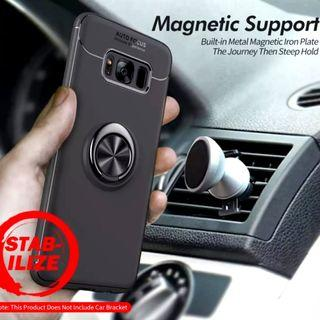 🚚 Samsung S8 TPU Soft Case w Fully Rotatable Ring