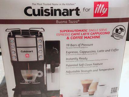 美膳雅Cuisinart頂級Espresso illy膠囊咖啡機 EM-600TWBK