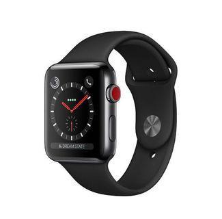 全新 未拆封 42mm Apple Watch series 3 LTE GPS+網 太空灰 灰色運動錶帶 無線充電板