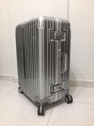 "28"" Silver Luggage Bag"