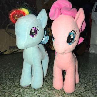 Genuine My Little Pony Plush Toys - Pinkie Pie and Rainbow Dash
