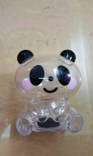 透明貓熊存錢筒
