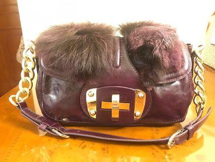 Her-ism紫色手袋handbag