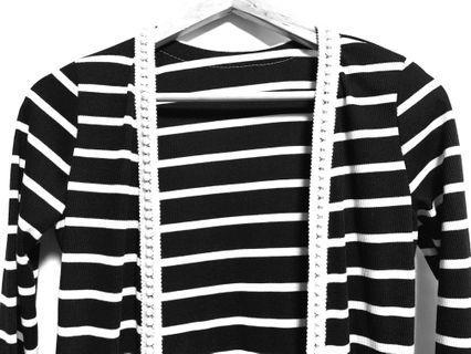 Black / White Stripe Outerwear