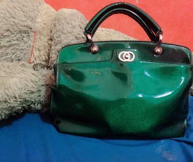 Tas Fladeo ORI hijau metalik sangat istimewa kondisi 99%