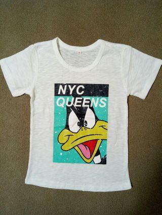 迪士尼鴨子 T-shirt 5-15歲 尺寸齊全