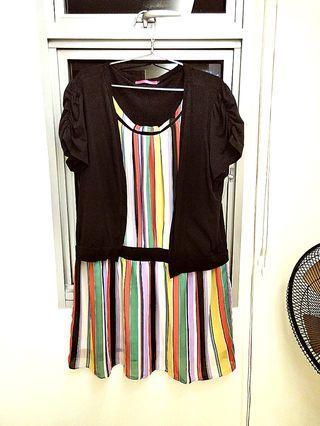 Colourful Rainbow Dress