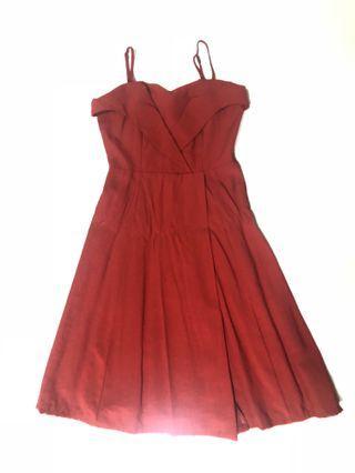 🚚 theeditorsmarket red dress