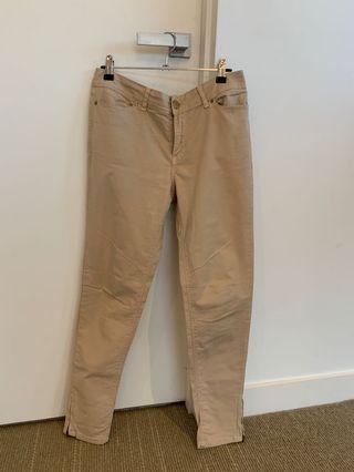 Zara Basic Camel Skinny Pants Size 40