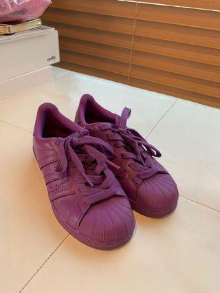 Adidas Originals Purple Superstar UK 3.5 US 4