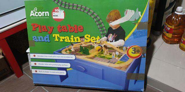Play Table and Train Set BOXED
