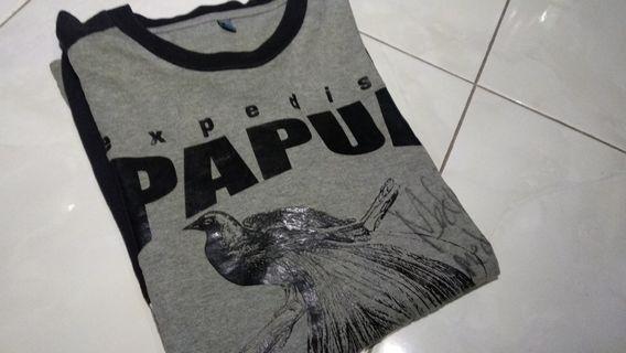 Kaos long sleeve jejak petualang expedisi papua original