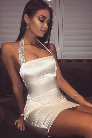 Meshki Diamond Halter Dress
