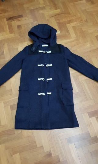 Navy blue winter jacket, paddington trench coat