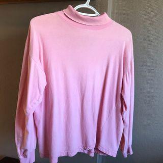 Plain Pink Turtleneck Shirt