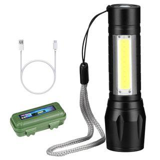 New# 迷你伸縮變焦手電筒/ 媲美Q5/COB/LED