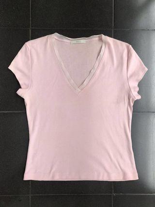 #mauthr Kaos Marks & Spencer vneck rose pink