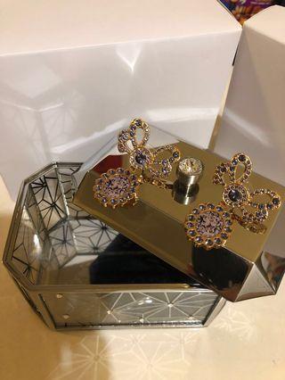 優雅型紫水晶耳環Purple Cystal Earring