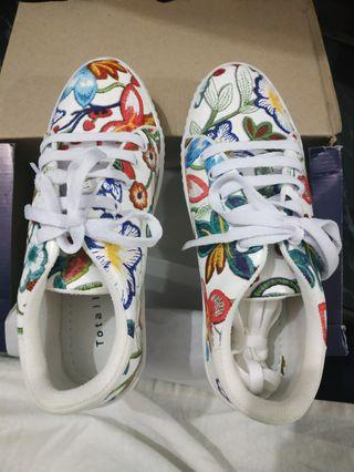 Flower Art Print Shoes