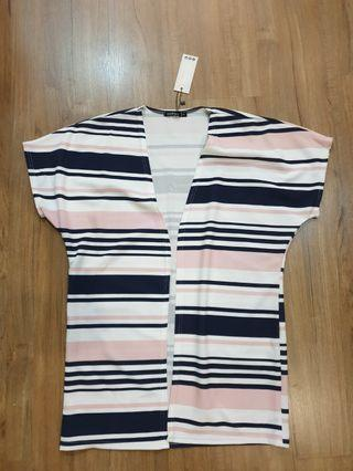 Boohoo uk stripe outerwear