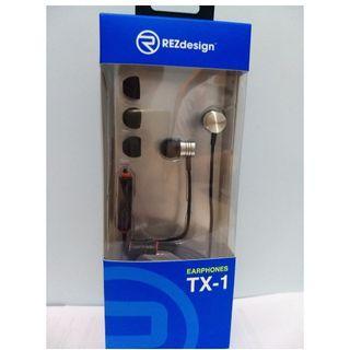 REZdesign TX-1 Earphones 直入式耳筒 Headphones