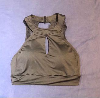 Halter Neck crop top/lingerie