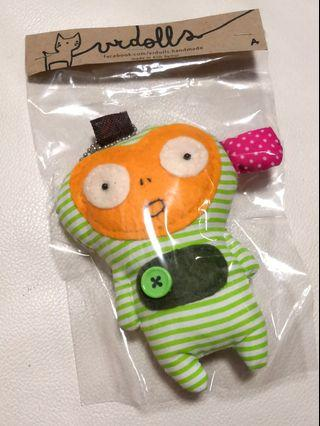 🚚 Unique Cute Handmade VR Doll Key Chain, Made in Thailand, Koh Samui