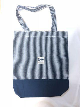 Lee 藍色帆布袋