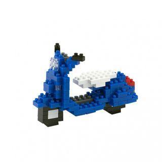 🚚 TICO Brick Blue Vespa