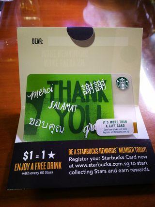 $30 starbucks card brand new