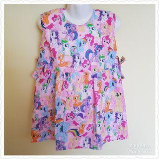 *New Arrival* Handmade Premium Sleeveless Dress with ribbons at waist –  Pink My little Pony