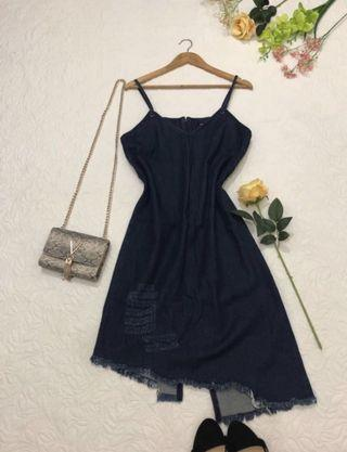 Unique denim dress