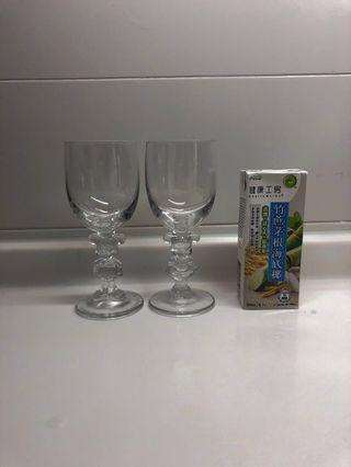 Wine glasses Micky & Minnie