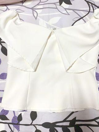 White Love Bonito inspired top
