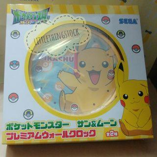 全新日版景品 比卡超 Pokemon Pikachu大時鐘