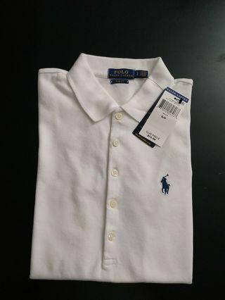 Brand New Polo Ralph Lauren Slim Fit Women's White SP Tee