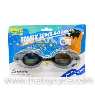 Swimming Goggles with Ear Plugs & Nose Clip