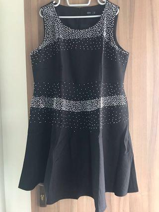 Black Dress with beads design