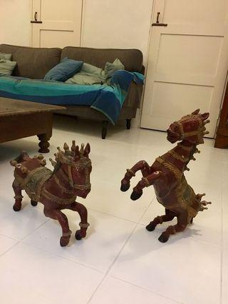 Decorative painted wooden horses