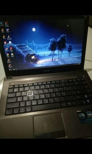Laptop Asus X44H Core i3 Ram 2gb SSD 120gb