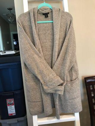 Never worn beige knit cardigan