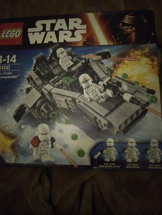Lego set 75100 Star Wars First Order Snowspeeder